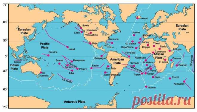 Карта вулканов мира онлайн: извержения и активность /| Путь экстрима и выживания в дикой природе и городе