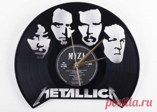 Часы из виниловой пластинки «Металлика» купить подарок в ArtSkills: фото, цена, отзывы