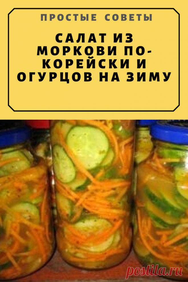 Салат из моркови по-корейски и огурцов на зиму — Простые советы