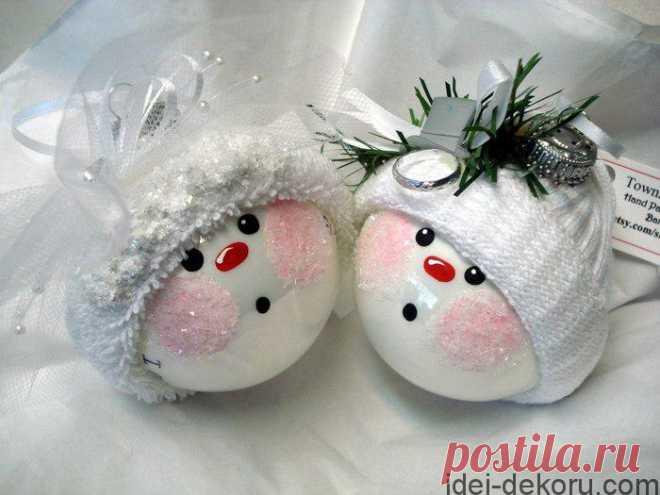 Забавные идеи новогодних шариков — DIYIdeas