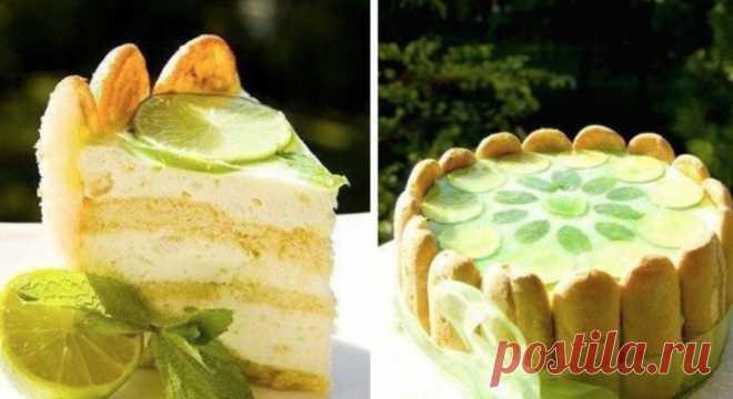 Торт-шарлотта «Мохито» — десерт дойный праздничного стола! Торт-шарлотта «Мохито» — десерт дойный праздничного стола!