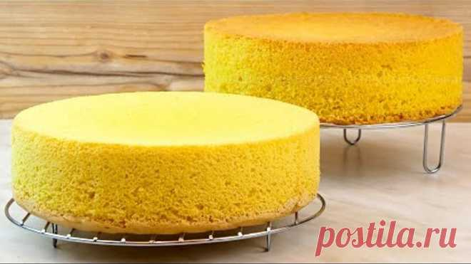 Классический бисквит без разрыхлителя по Советской рецептуре! Как приготовить бисквитное тесто!