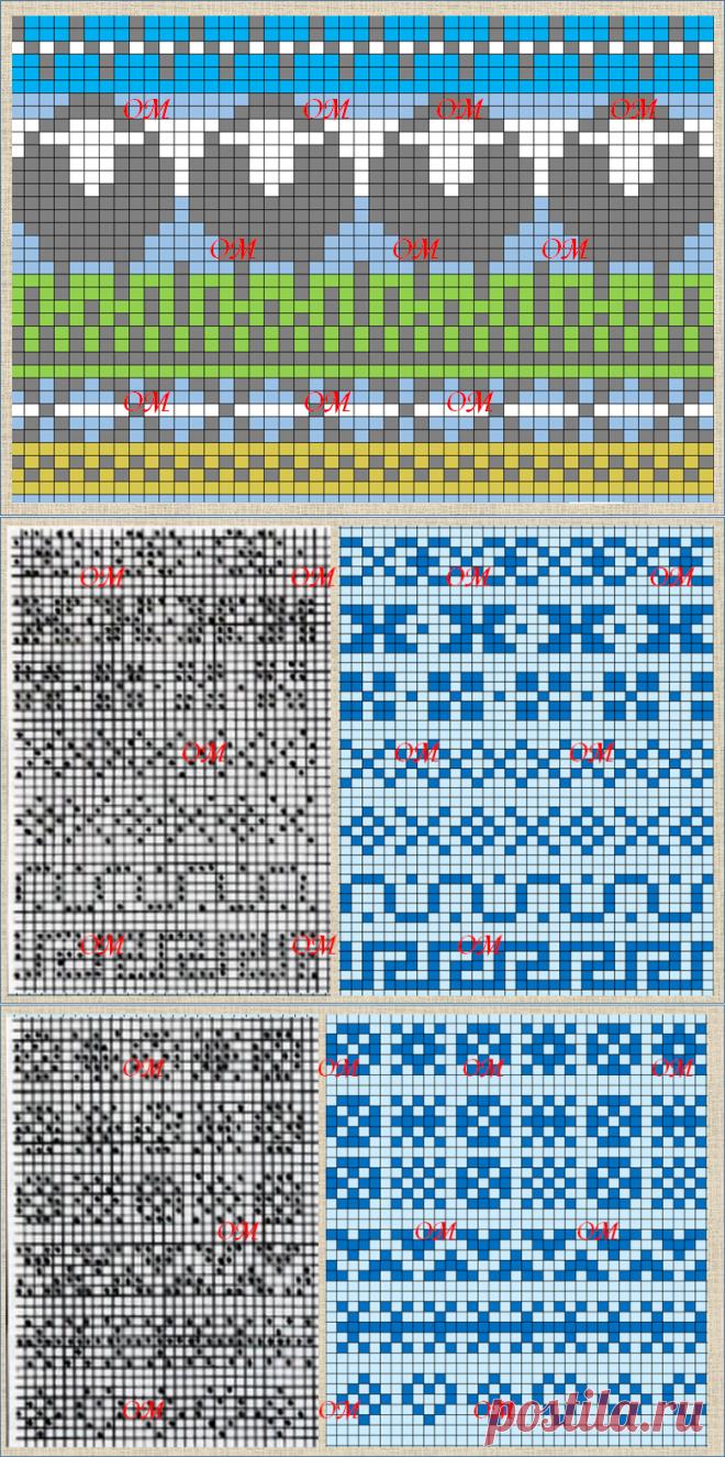 Жаккардовые схемы: милые овечки и 26 схем базовых элементов для жаккардового вязания из книги по Fair isle - часть 2   Про мои рукоделочки и вкусняшки   Яндекс Дзен