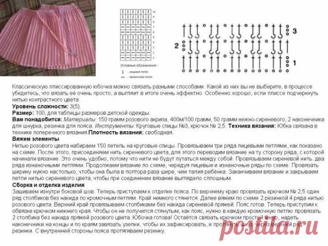 Как связать красивую юбку для девочки спицами с описанием? Модели и узоры модных детских юбок спицами: схемы с описанием, фото
