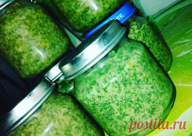 Укропный соус на зиму- пошаговый рецепт с фото.