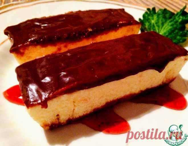 Домашний сливочный пломбир с шоколадным топпингом – кулинарный рецепт