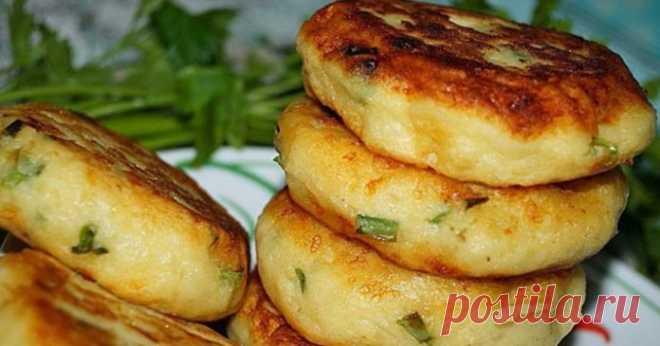 Картофельные биточки с зелёным луком и сыром — супер рецепт – Простые советы