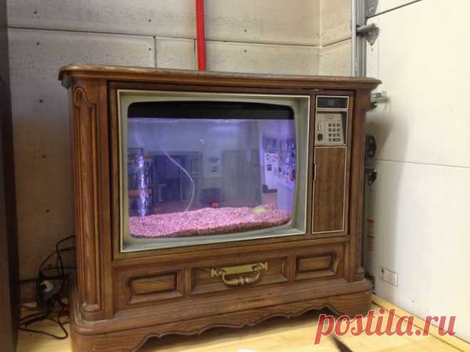 Еще аквариум в интерьере. Все таки фантастически оживляет общую картину, казалось бы, стеклянный куб с рыбками.