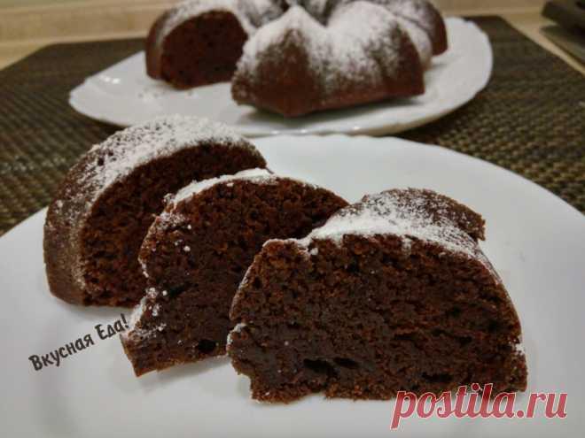 Постный шоколадный кекс на воде — Кулинарная книга - рецепты с фото