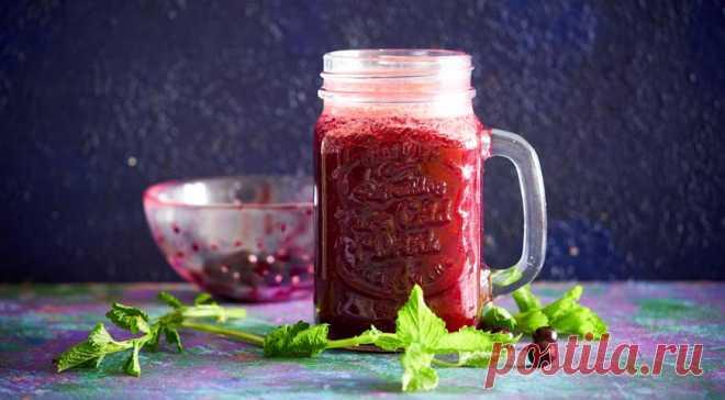 Морс из черной смородины с мелиссой, пошаговый рецепт с фото