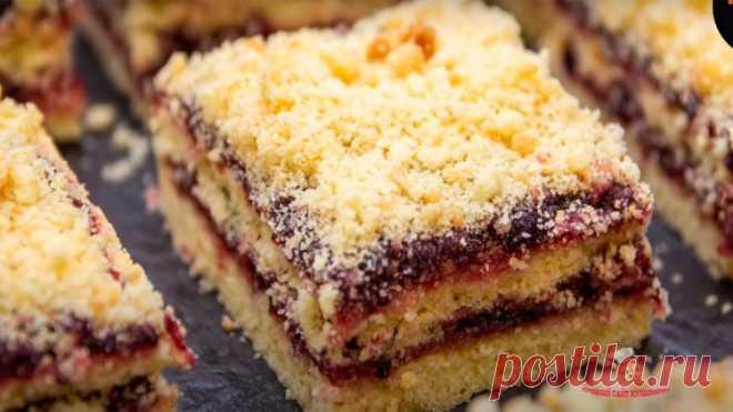 Песочное пирожное с вареньем - Лучший сайт кулинарии