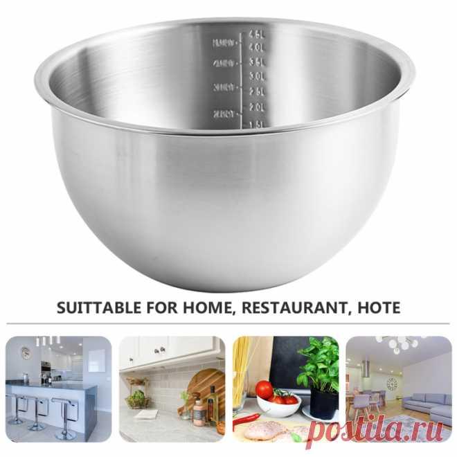 1 шт. Бытовая Пищевая миска для яиц из нержавеющей стали кастрюля для домашней кухни (16 см, серебро)|Кастрюли для супа и бульона| | АлиЭкспресс