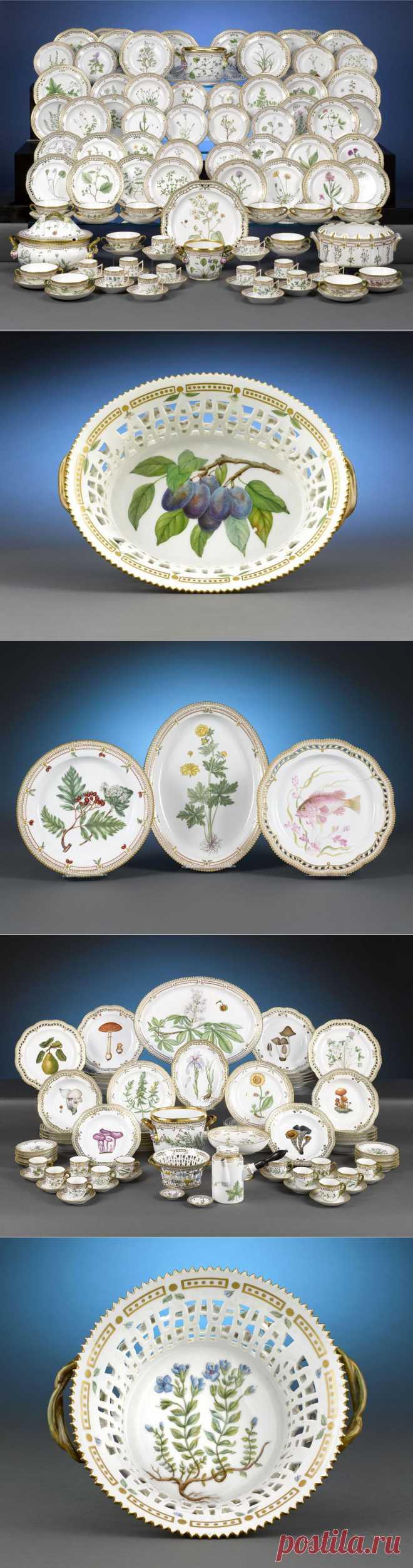 Сервиз «Flora Danica» - фарфоровый гербарий Датского королевства | Royal Copenhagen (часть II.) .
