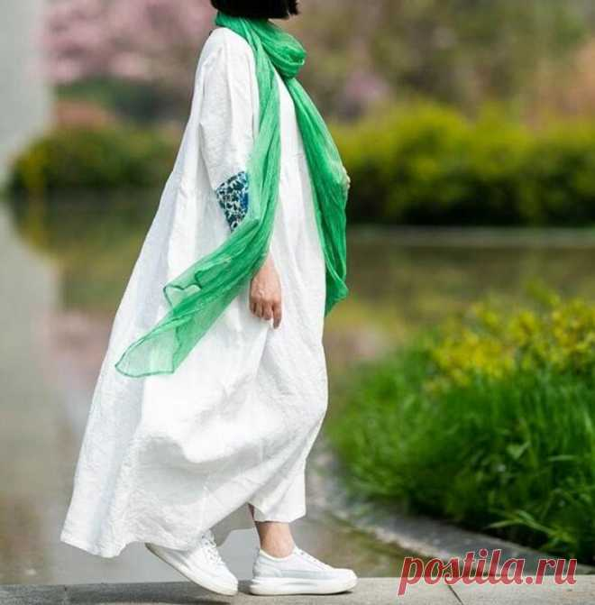 Women linen maxi dress White dress Oversized dress wedding | Etsy