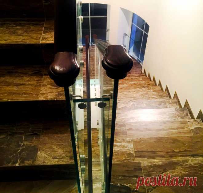 Самонесущие стеклянные перила