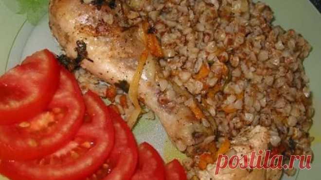 Курица с гречкой в духовке. Гречка с курицей. Как приготовить курицу с гречкой в духовке.