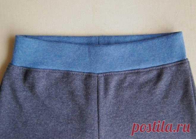 Техника вшивания широкого пояса-резинки в трикотажные изделия