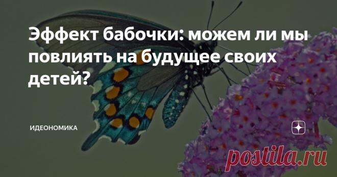 Эффект бабочки: можем ли мы повлиять на будущее своих детей? Профессор психологии Юко Мунаката призывает родителей не взваливать на себя слишком большую ответственность