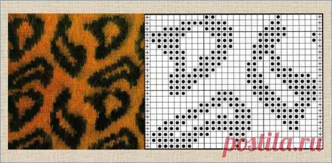 Звериные хищные и не очень жаккардовые узоры и модели со схемами для вязания спицами | ЖАККАРДос | Яндекс Дзен