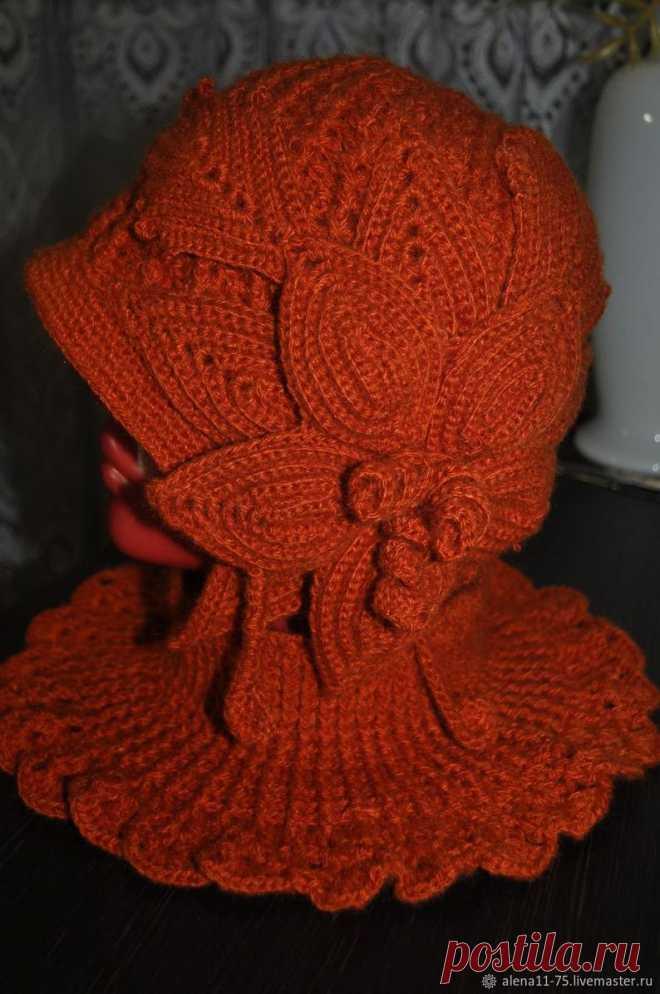 Fashion Elegant Woolen Warm Women's Orange Beanie Hat | Etsy
