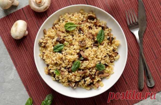 Булгур с шампиньонами — Sloosh – кулинарные рецепты