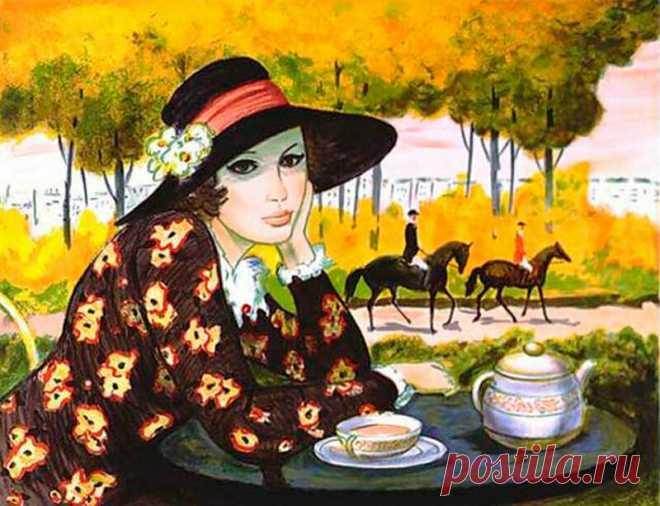 Испанский художник Ricardo Sanz. Картины маслом женщины ... | 506x660