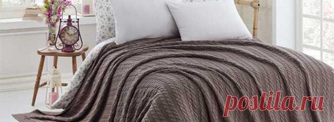 Вязаные покрывала на кровать, особенности, преимущества