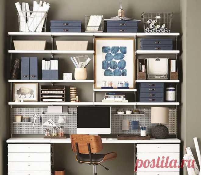Дизайнерские стеллажи – продуманный уют рабочего места - Дизайн квартир с фото Vdizayne.ru