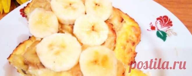 Творожно банановая запеканка в духовке диетическая - Диетический рецепт ПП с фото и видео - Калорийность БЖУ