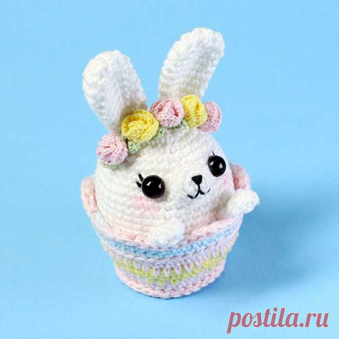 Пасхальный кролик в корзинке крючком | AmiguRoom