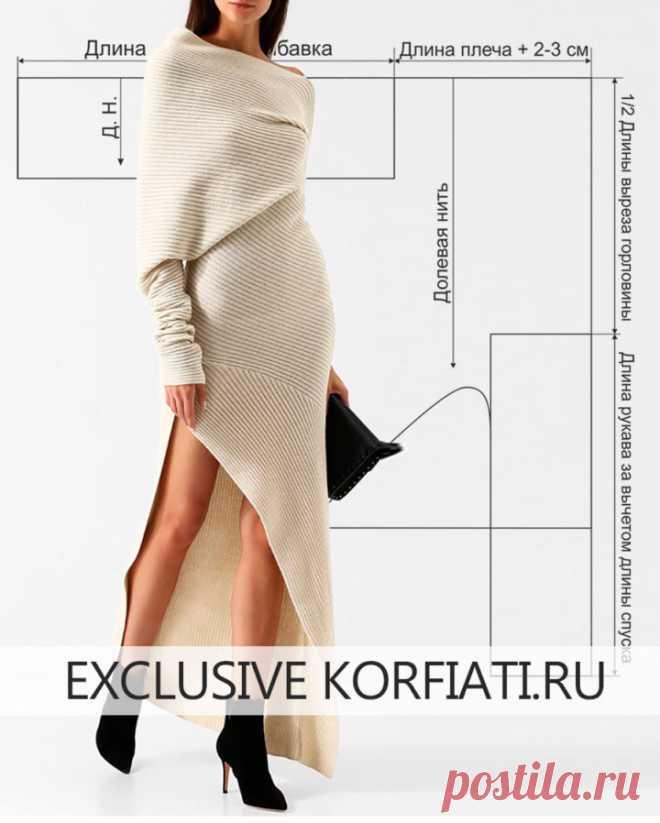 Платье без выкройки от Школы шитья Анастасии Корфиати