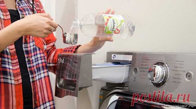 Пятна исчезнут, если вы добавите в стиральную машину ...