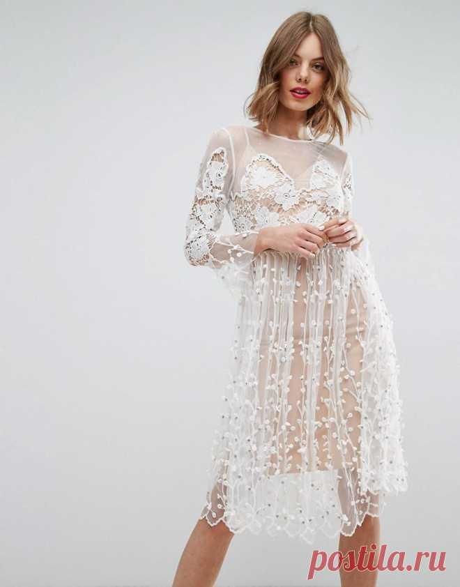 Белое кружевное платье: 100+ фото модных фасонов, тенденций, новинок