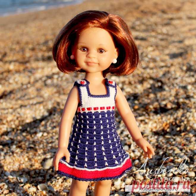 Морской сарафан для куклы @ Оксана Лифенко