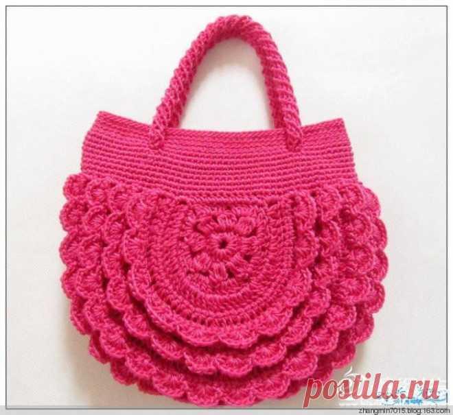 2408d8cc4dda Вязаные сумочки для девочек | Вязание крючком | Постила