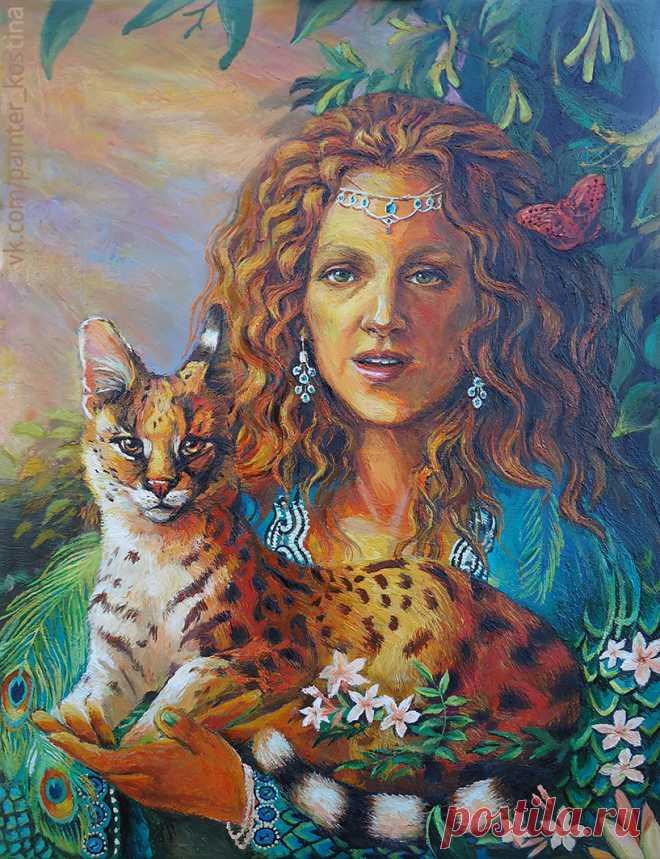 Экзотический портрет. Масло, холст 33х43 см