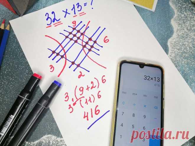 Узнал как японских детей учат умножать числа с помощью рисунка, даже таблицу умножения знать не нужно   Поделкин   Яндекс Дзен