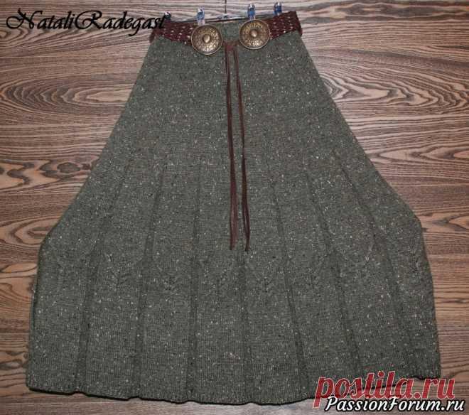болгарская юбка спицами схема