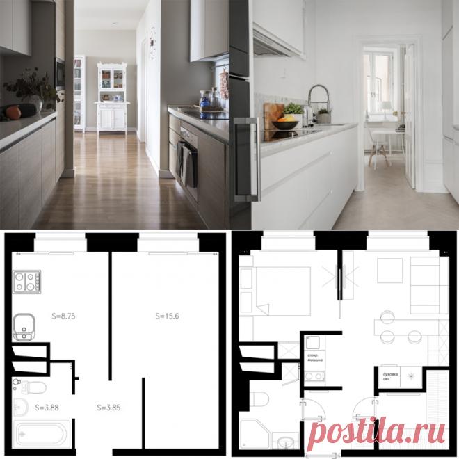 Идея для маленьких квартир: проходная кухня вместо коридора - Ремонт | лайфхаки | интерьер