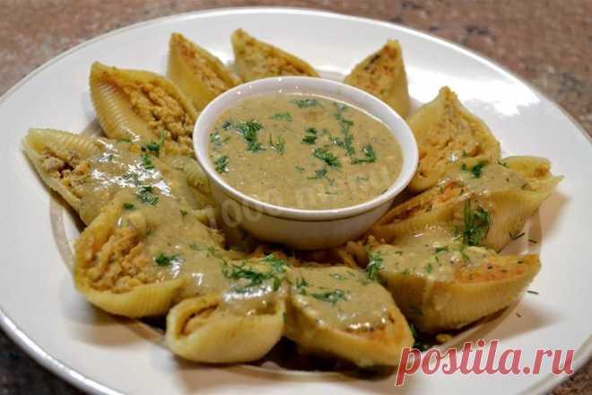 Фаршированные ракушки в соусе рецепт с фото - 1000.menu