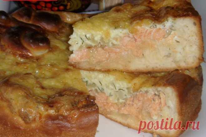 """Пирог """"Рыбка в сырном соусе"""". Все в диком восторге!"""