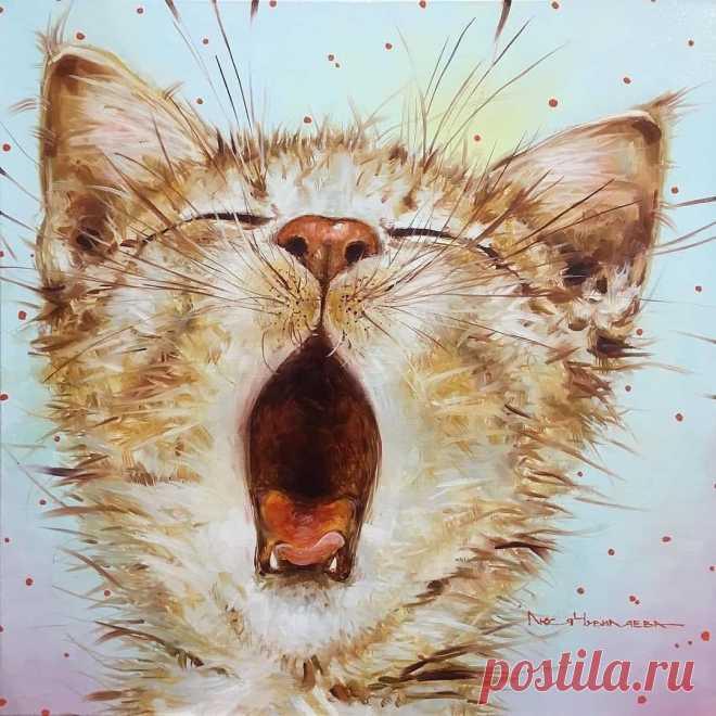 Забавные коты художницы Люси Чувиляевой из Санкт-Петербурга