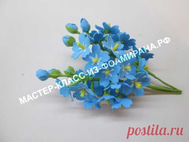 Forget-me-nots from a foamiran: a master class the hands   the Master class from a foamiran
