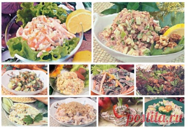 10 рецептов вкусных салатов как в ресторане
