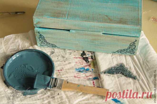Простой способ сделать картонную коробку привлекательной - Ярмарка Мастеров - ручная работа, handmade