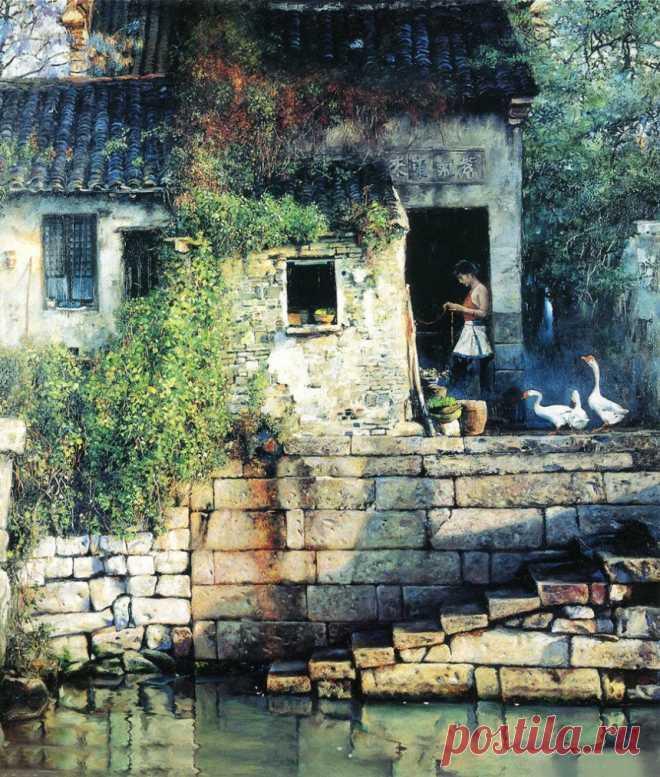 Художник Pan Honghai (潘鸿海) / Пань Хунхай (Китай, 1942). Пейзажи