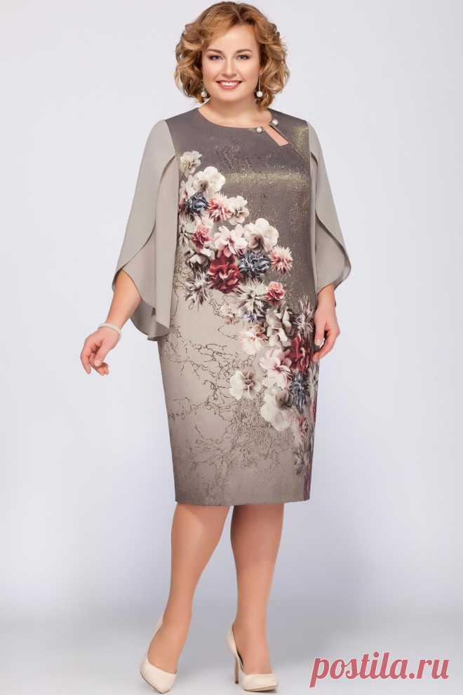 3afde89c9305 Платье LaKona, беж (модель 1090) — Белорусский трикотаж в интернет-магазине  «