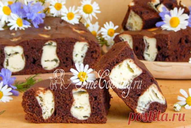 "Chocolate and cottage cheese ""Лисьи норы"" pie; - contrast of colors, delicate chocolate aroma and amazing taste"
