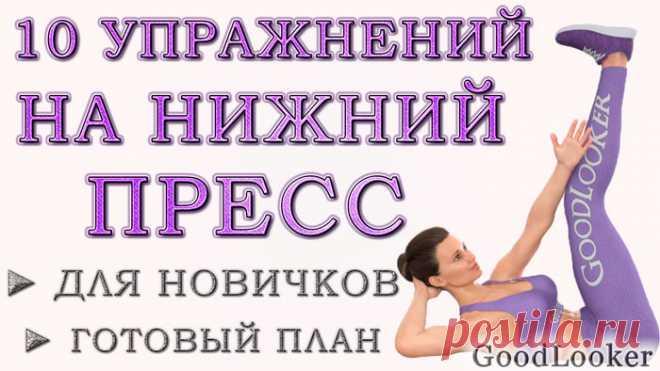 Топ-10 эффективных упражнений для новичков на нижний пресс