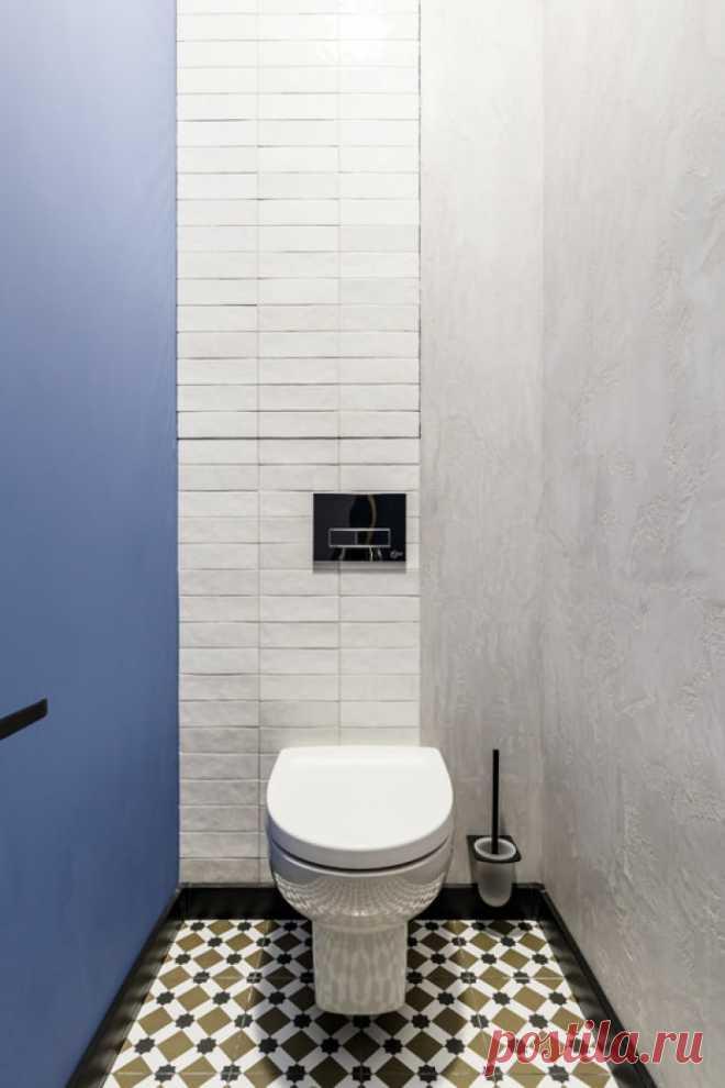 Отделка туалета: варианты для стен, пола и потолка (41 фото)